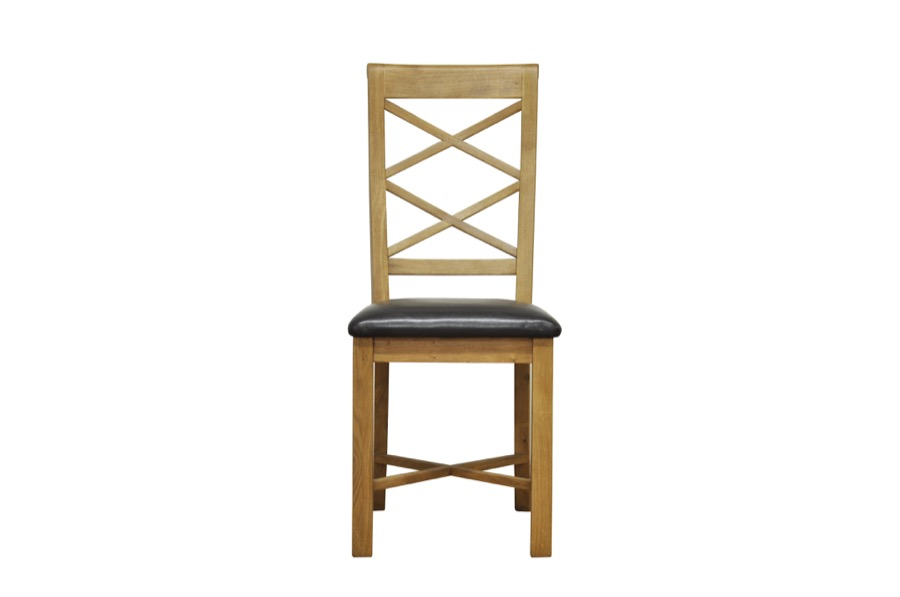 Granby Oiled Oak Cross Back Dining Chair