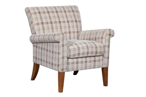 Luca Accent Chair Canterbury Plaid