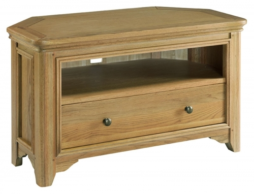 Rochelle French Oak Corner Tv Unit