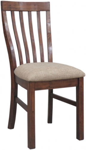 Melrose Reclaimed Pine Dining Chair With Cushion Seat
