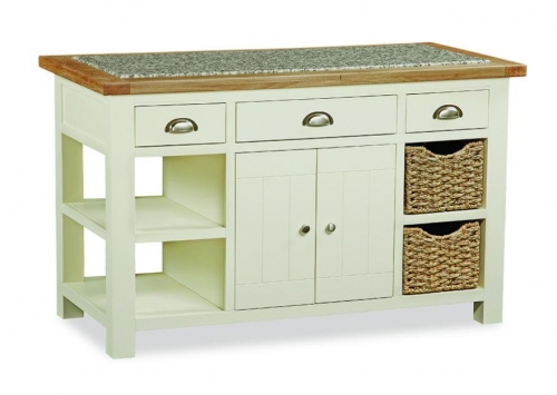 Dawlish Painted Oak Kitchen Island