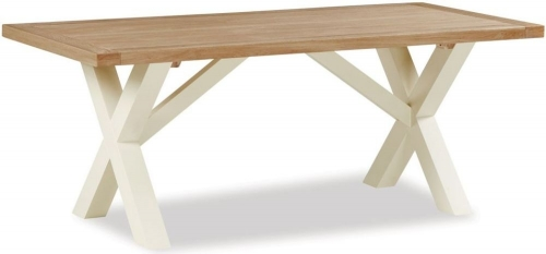Dawlish Painted Oak Cross Dining Table