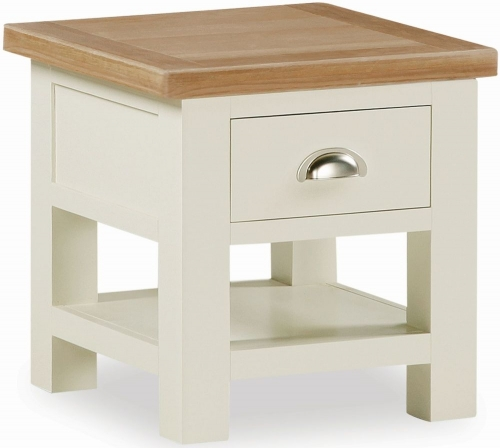 Dawlish Painted Oak Lamp Table With Drawer