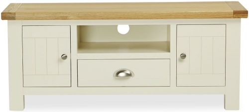 Dawlish Painted Oak Tv Unit With Drawer 120