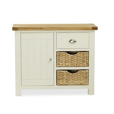 Dawlish Painted Oak Small Sideboard With Baskets