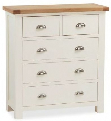 Dawlish Painted Oak 2 Over 3 Drawer Chest