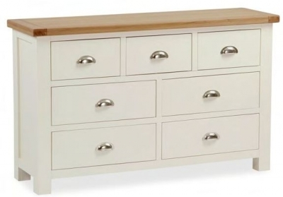 Dawlish Painted Oak 3 Over 4 Drawer Wide Chest