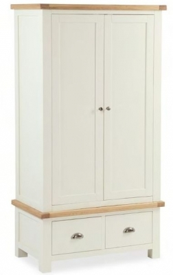 Dawlish Painted Oak Gents Wardrobe