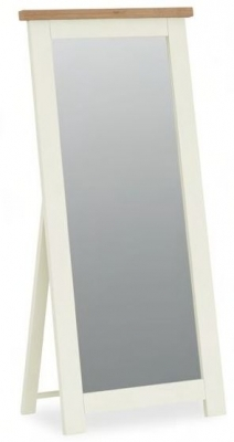 Dawlish Painted Oak Top Cheval Mirror