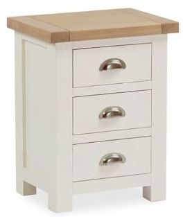 Dawlish Painted Oak 3 Drawer Bedside