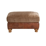 Lawrence Leather & Fabric Footstool