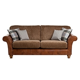 Lawrence Leather & Fabric Sofa - Medium