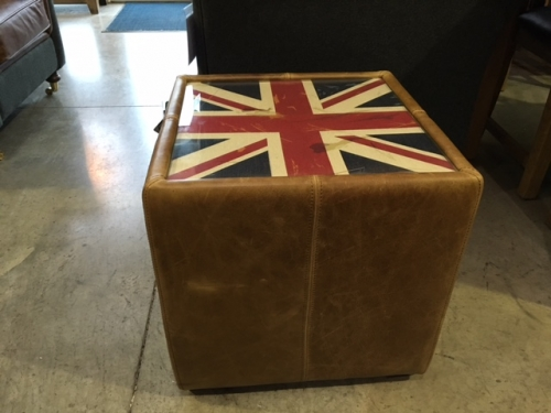 Wallace Leather Cube With Union Jack