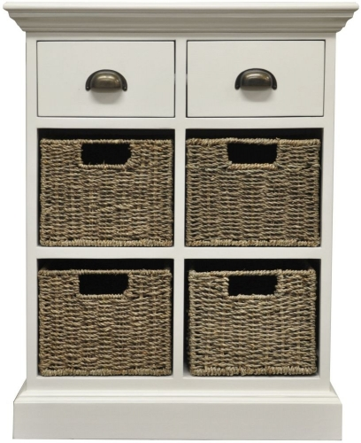 Harbour Painted 2 Drawer 4 Basket Unit