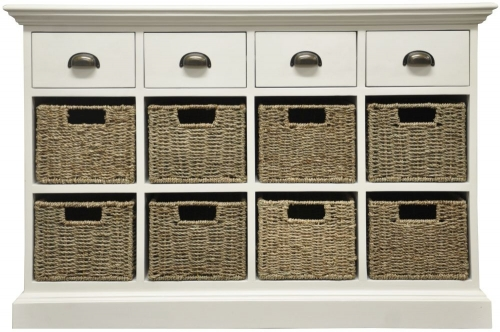 Harbour Painted 4 Drawer 8 Basket Unit