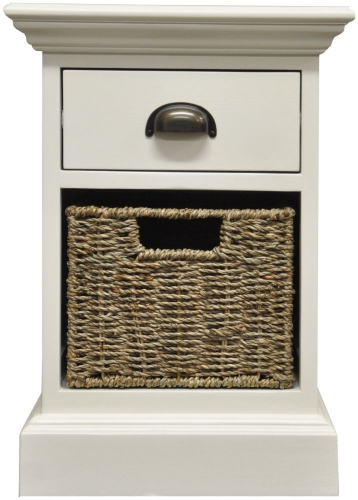 Harbour Painted 1 Drawer 1 Basket Unit