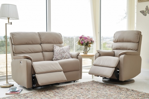 Modena Electric 2 Seater Sofa & Integrated Footrest