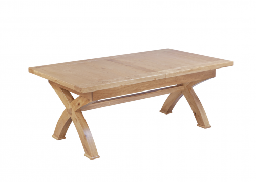 Hebden Solid Oak X Leg Extending Dining Table