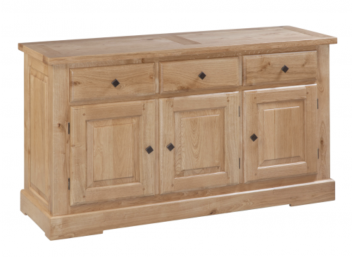 Hebden Solid Oak 3 Door 3 Drawer Sideboard