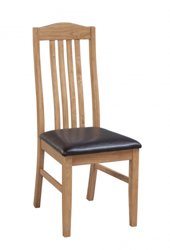 Hebden Solid Oak Slatted Dining Chair