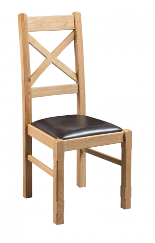 Hebden Solid Oak Cross Back Dining Chair