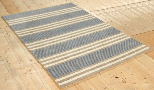 New Wool Parker Stripe Blue Rugs