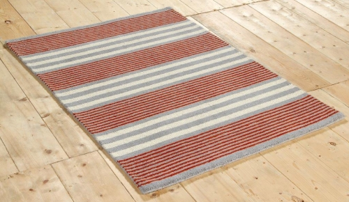 New Wool Parker Stripe Orange Rug