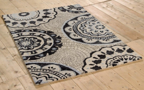 New Wool Barton Black & White Rugs