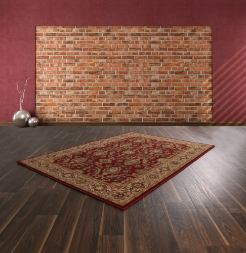 Keshan Supreme Herati Red New Zealand Wool Rug