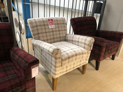 Brandsby Accent Chair - Canterbury Plaid