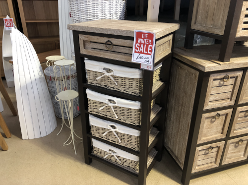 Viga Tall Chest with 4 Baskets