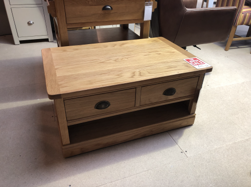Sherburn Oak Coffee table with Drawers