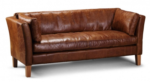 Newton 3 Seat Leather Sofa