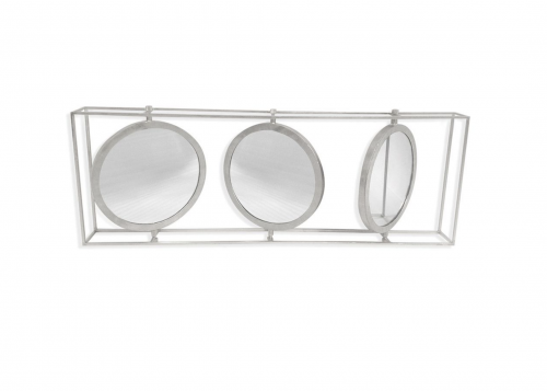 Orion Triple Mirror - Shiny Silver Finish