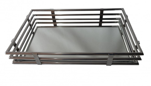 Large Gatsby Tray - Stainless Steel Base
