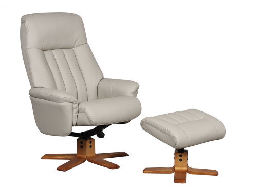Turin Swivel Recliner & Footstool - Plush or Fabric