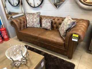 Arran 3 Seat Leather Sofa