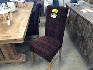 Highgrove Fabric Chair - Claret