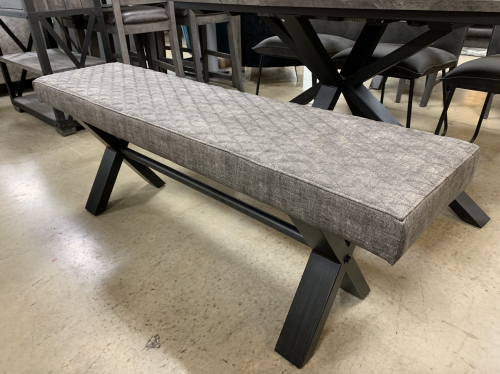 Telford Industrial Upholstered Bench 140