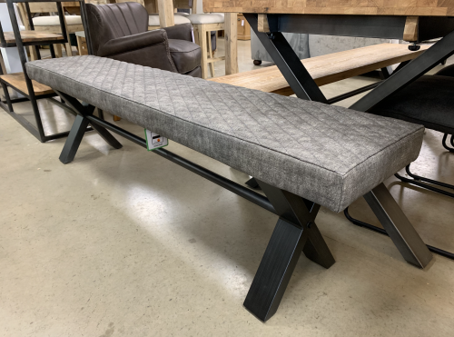 Telford Industrial Upholstered Bench 180