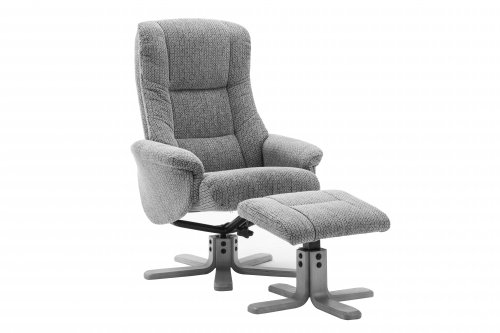 Rome Fabric Recliner Chair and Footstool
