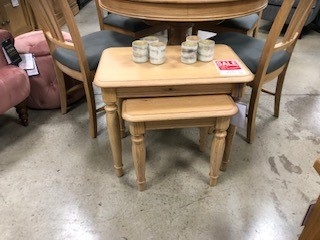 Biarritz French Oak Nest of Tables