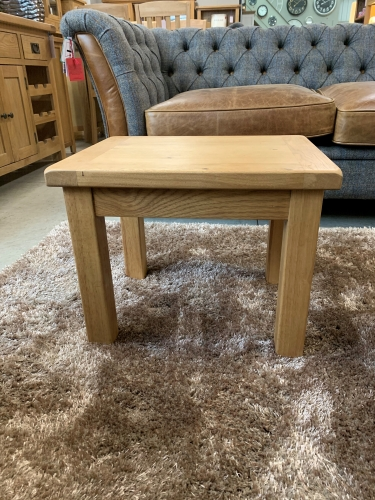 Country Rustic Waxed Oak Side Table