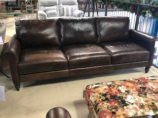 Nevada Leather 3 Seat Sofa