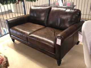 Nevada Leather 2 Seat Sofa