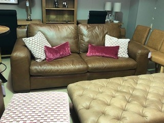 Oregon Leather 3 Seat Sofa