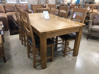 Brompton Grand Oak Extending Dining Table