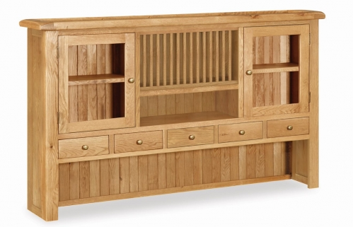 Country Rustic Waxed Oak Extra Large Hutch
