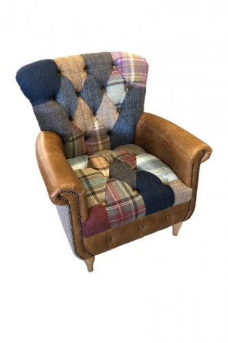 Heritage Patchwork Wing Chair