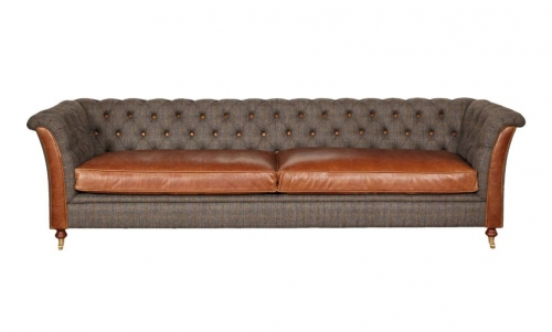 Heritage Lewis 4 Seat Leather Sofa